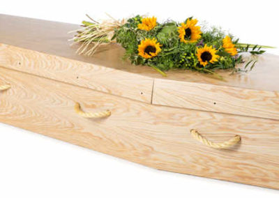 Light Woodgrain Cardboard TraditionalCoffin
